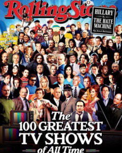 """Rolling Stone - Edition du 6 Octobre 2016: """"Greatest TV Shows of all time"""""""