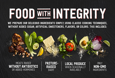 """Chipotle - Campagne """"Food with integrity"""" - 2015"""